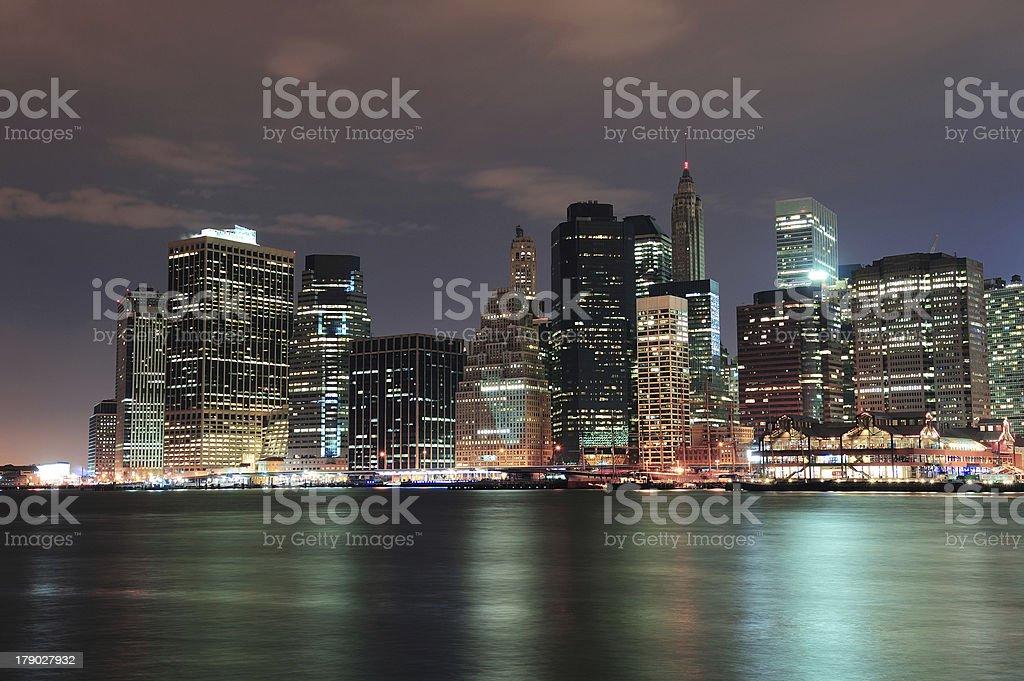 New York City Manhattan downtown royalty-free stock photo