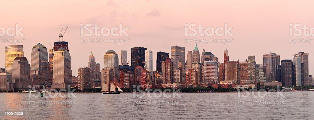New York City Manhattan downtown skyline royalty-free stock photo