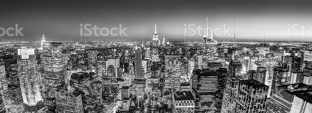 New York City Manhattan downtown skyline. stock photo