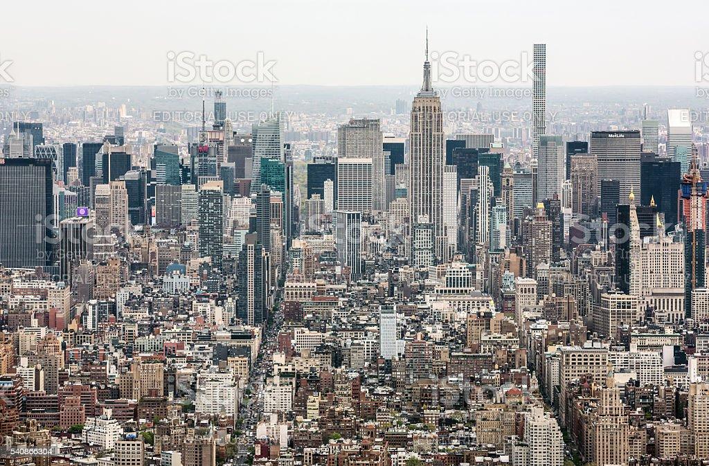 New York City Manhattan midtown view stock photo