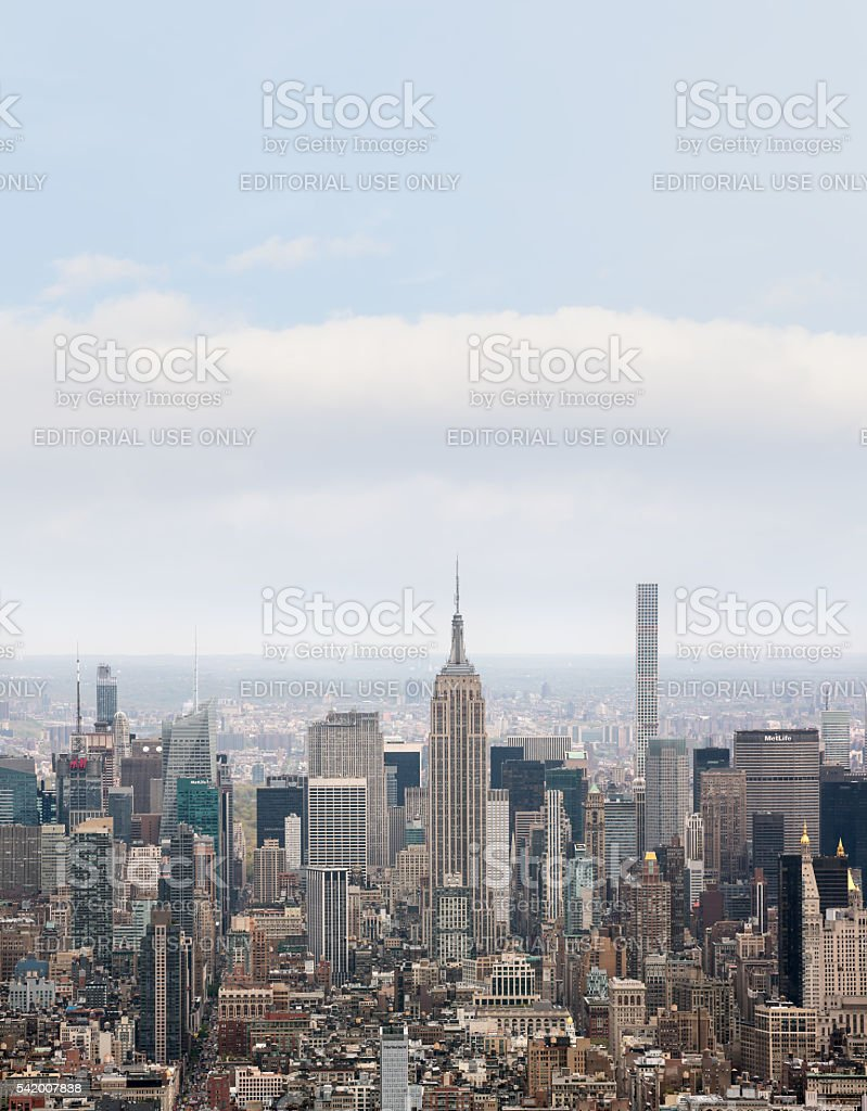 New York City Manhattan midtown view stock photo