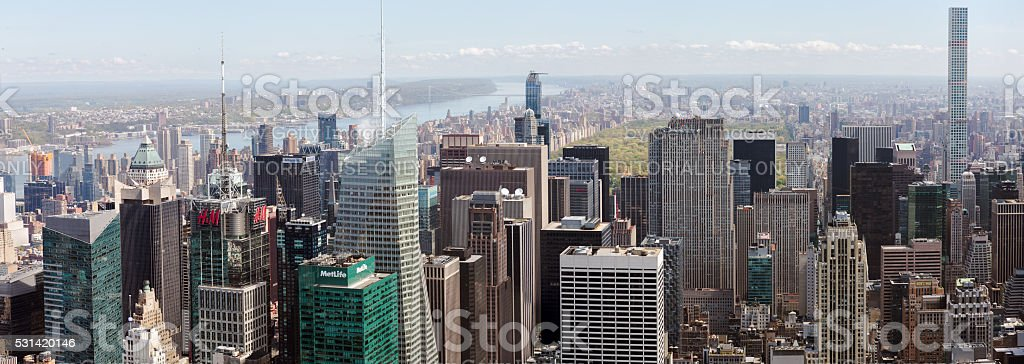 New York City Manhattan panorama stock photo