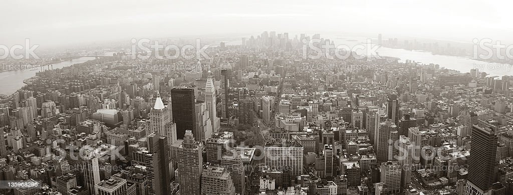 New York City Manhattan skyline aerial view panorama royalty-free stock photo