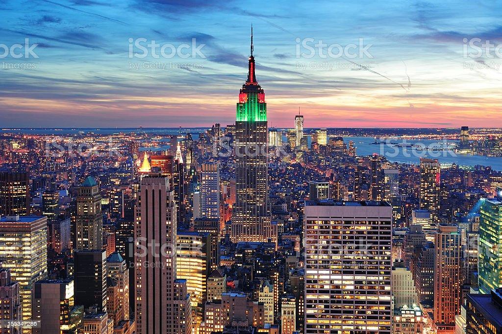 New York City Manhattan skyline aerial view royalty-free stock photo