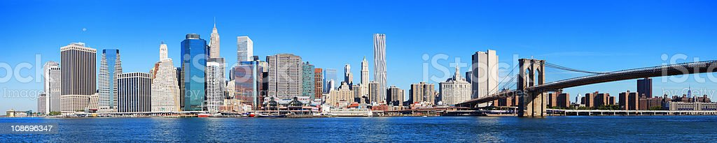 New York City Manhattan skyline panorama royalty-free stock photo