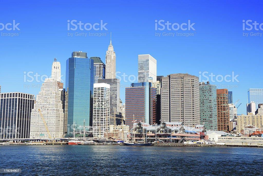 New York City Manhattan skyline royalty-free stock photo