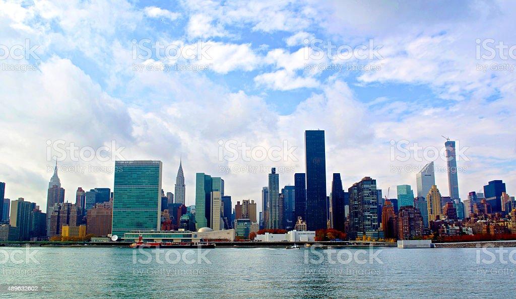 New York City & Manhattan Skyline stock photo