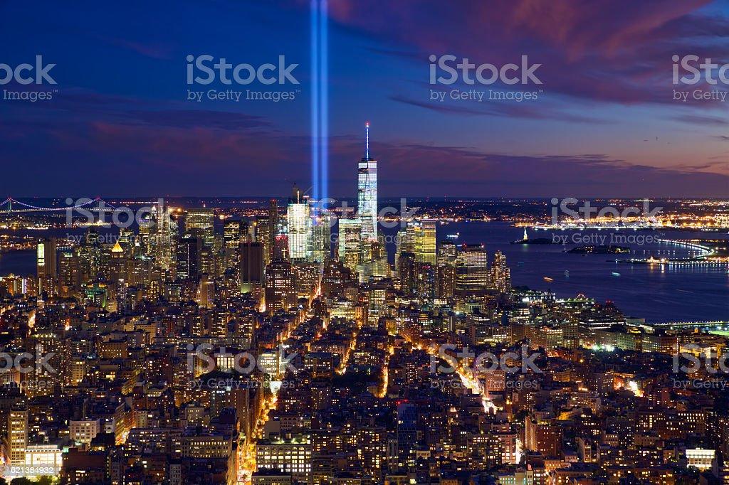 New York City Manhattan skyline stock photo