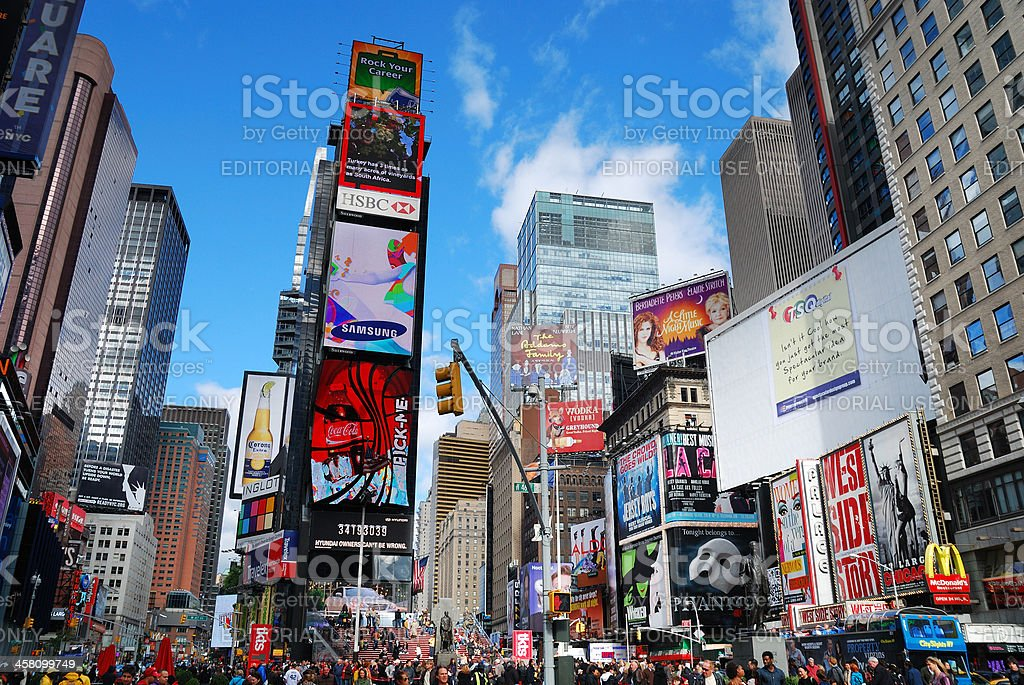 New York City Manhattan Times Square royalty-free stock photo