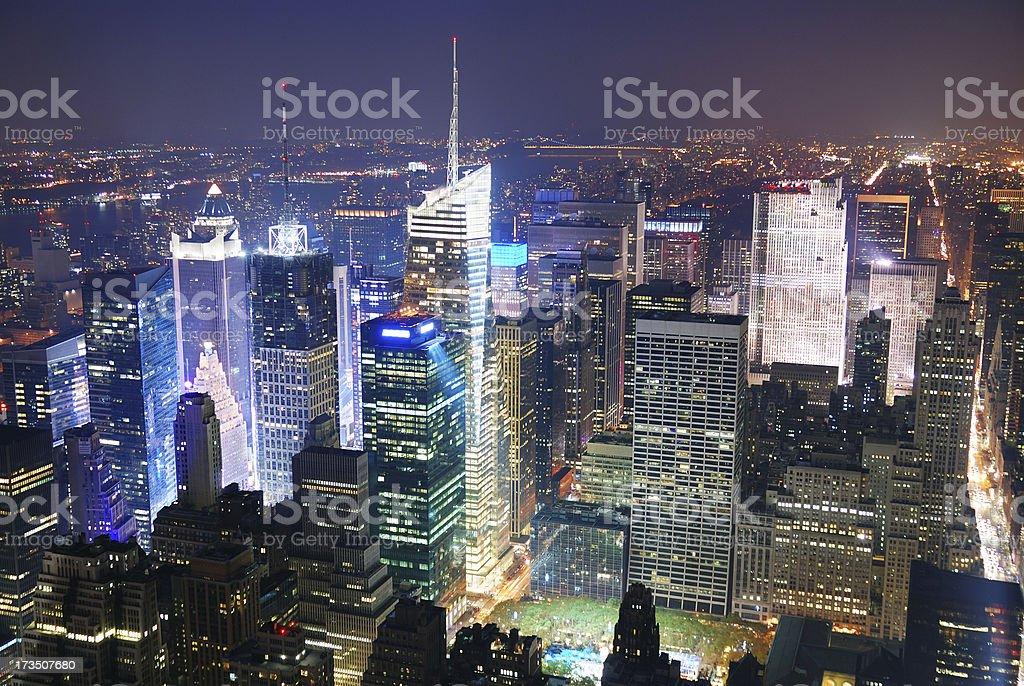 New York City Manhattan Times Square skyline aerial view royalty-free stock photo