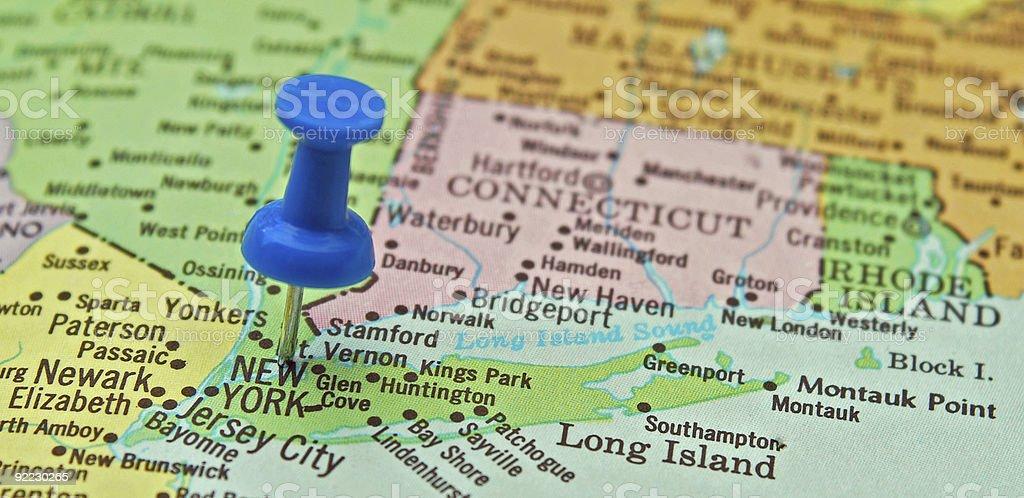 New York City Map stock photo