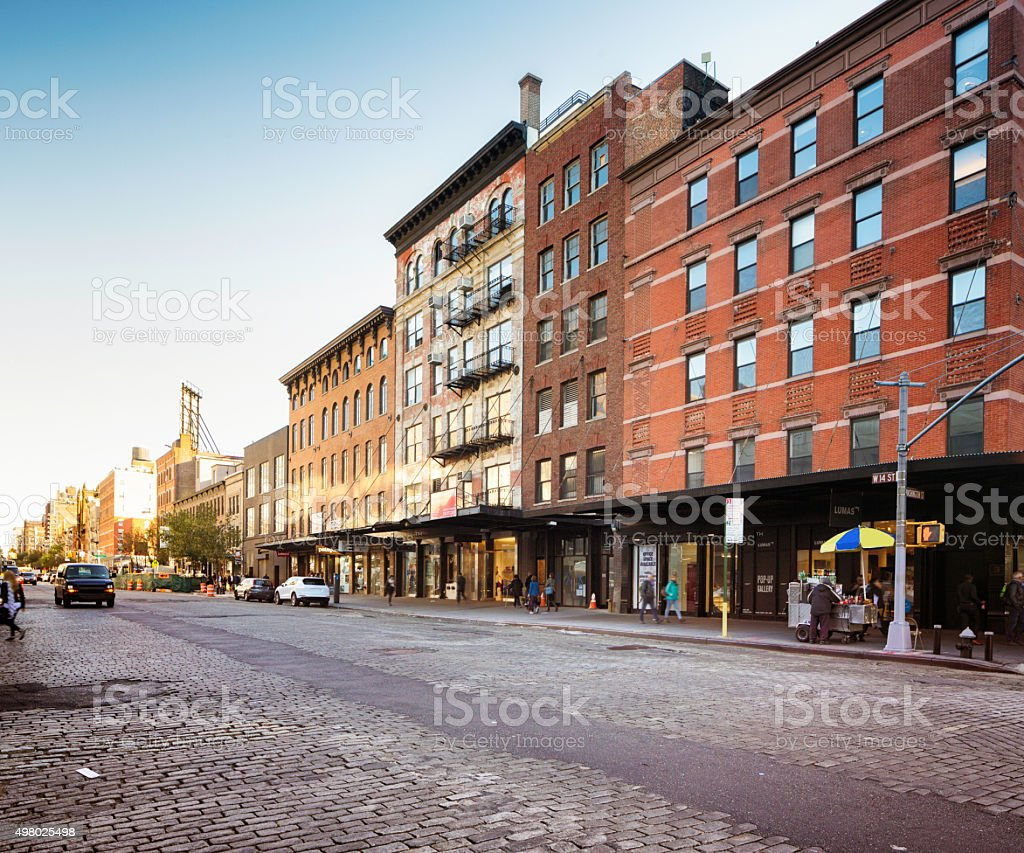 New York City Meat Packing district 14th street stock photo