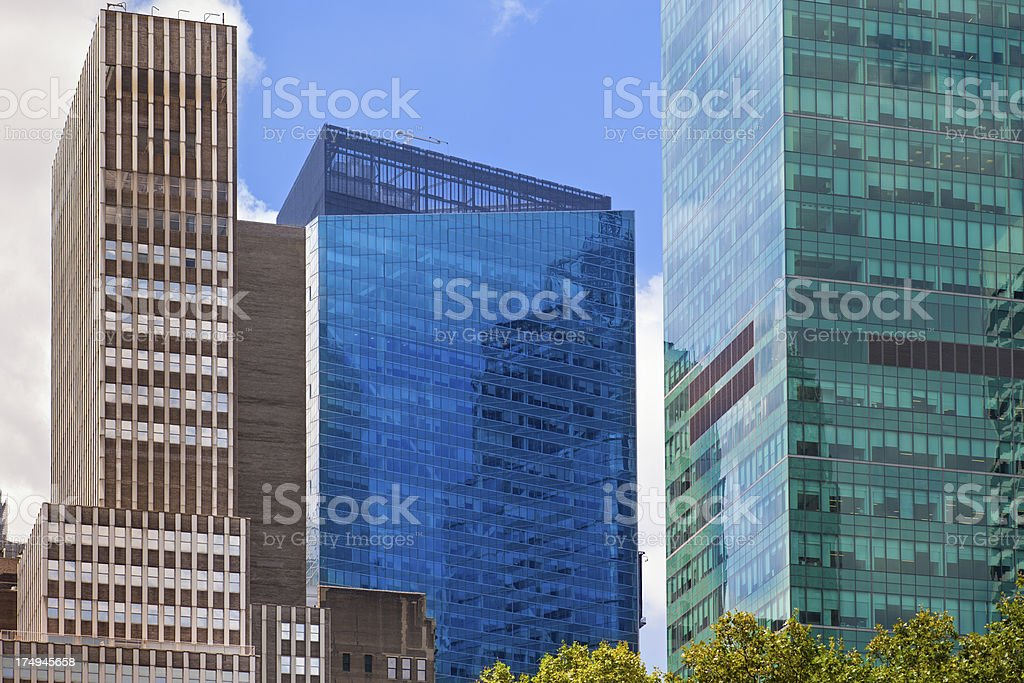 New York City, Midtown Manhattan, Office Buildings royalty-free stock photo