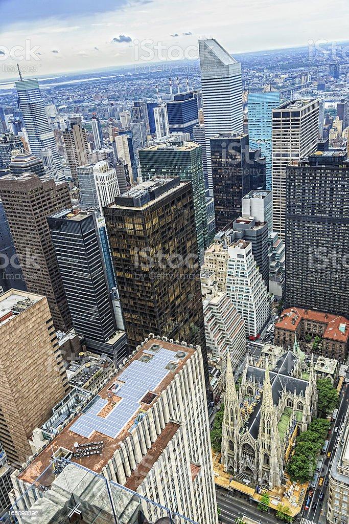 New York City midtown skyline, Manhattan, USA stock photo