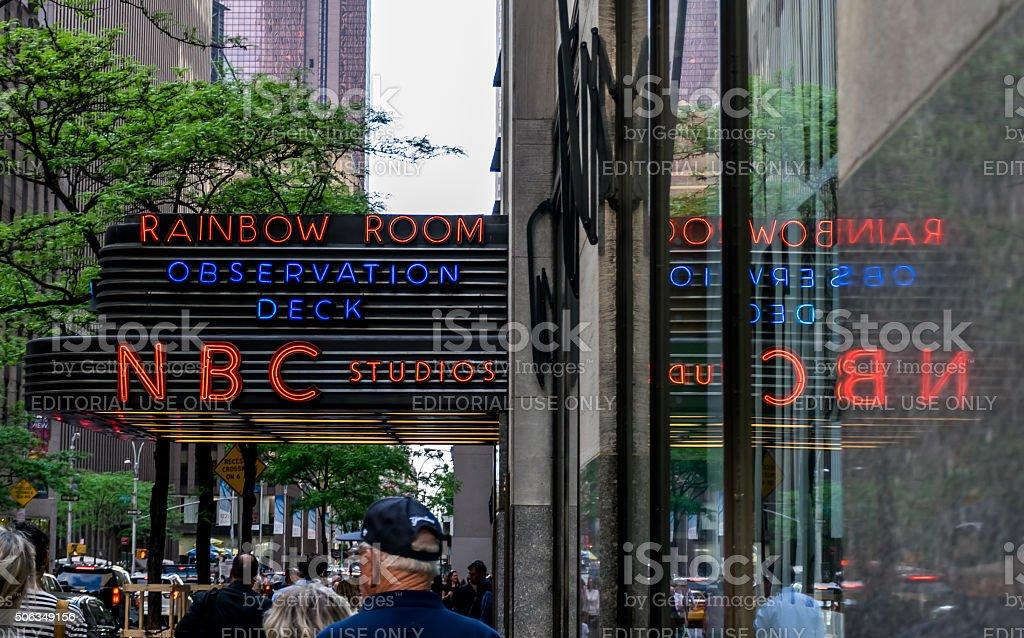 New York City NBC Studios stock photo