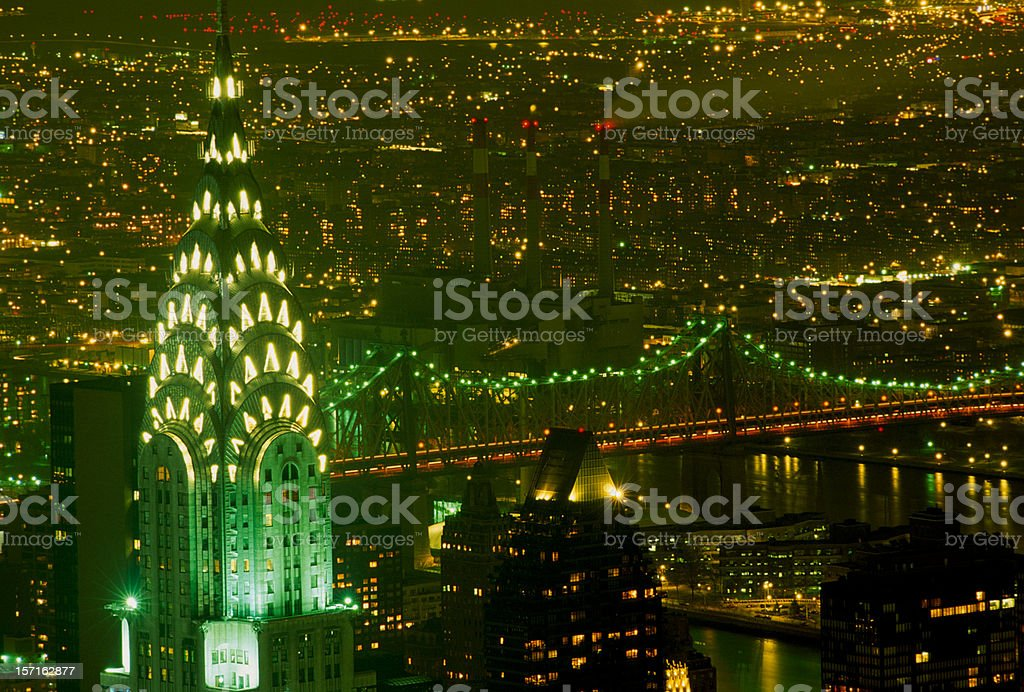 New York City - night view royalty-free stock photo