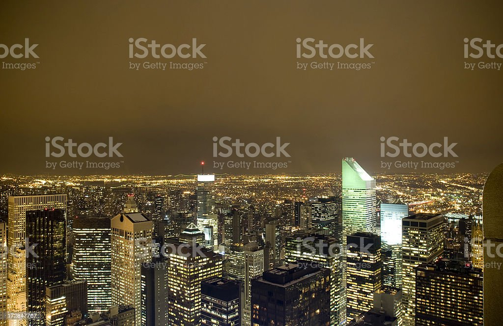 New York City Nights royalty-free stock photo