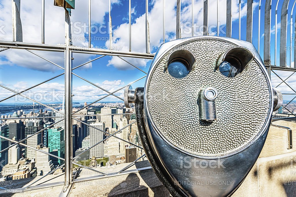New York City Observation Deck View stock photo