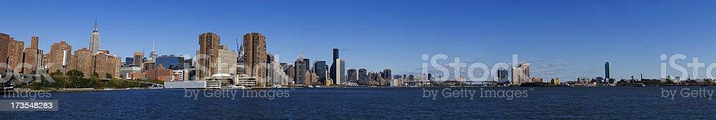 New York City Panorama Daytime royalty-free stock photo