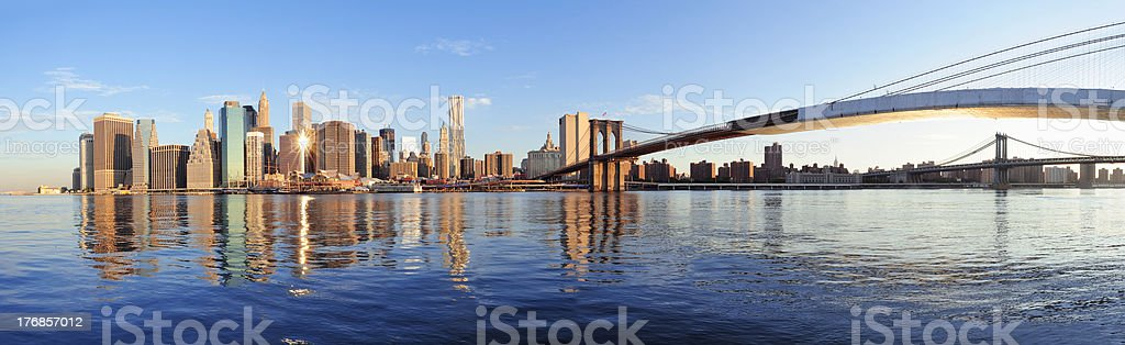 New York City panorama over river royalty-free stock photo