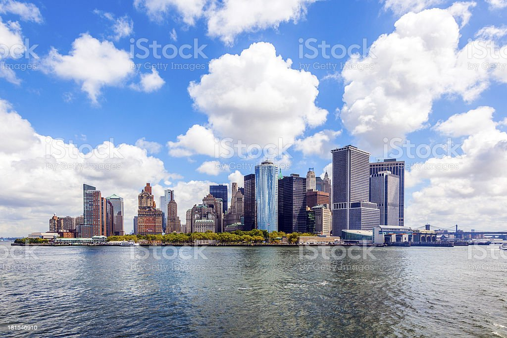 New York City panorama with Manhattan Skyline royalty-free stock photo