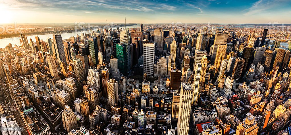 New York City Panoramic Aerial View stock photo