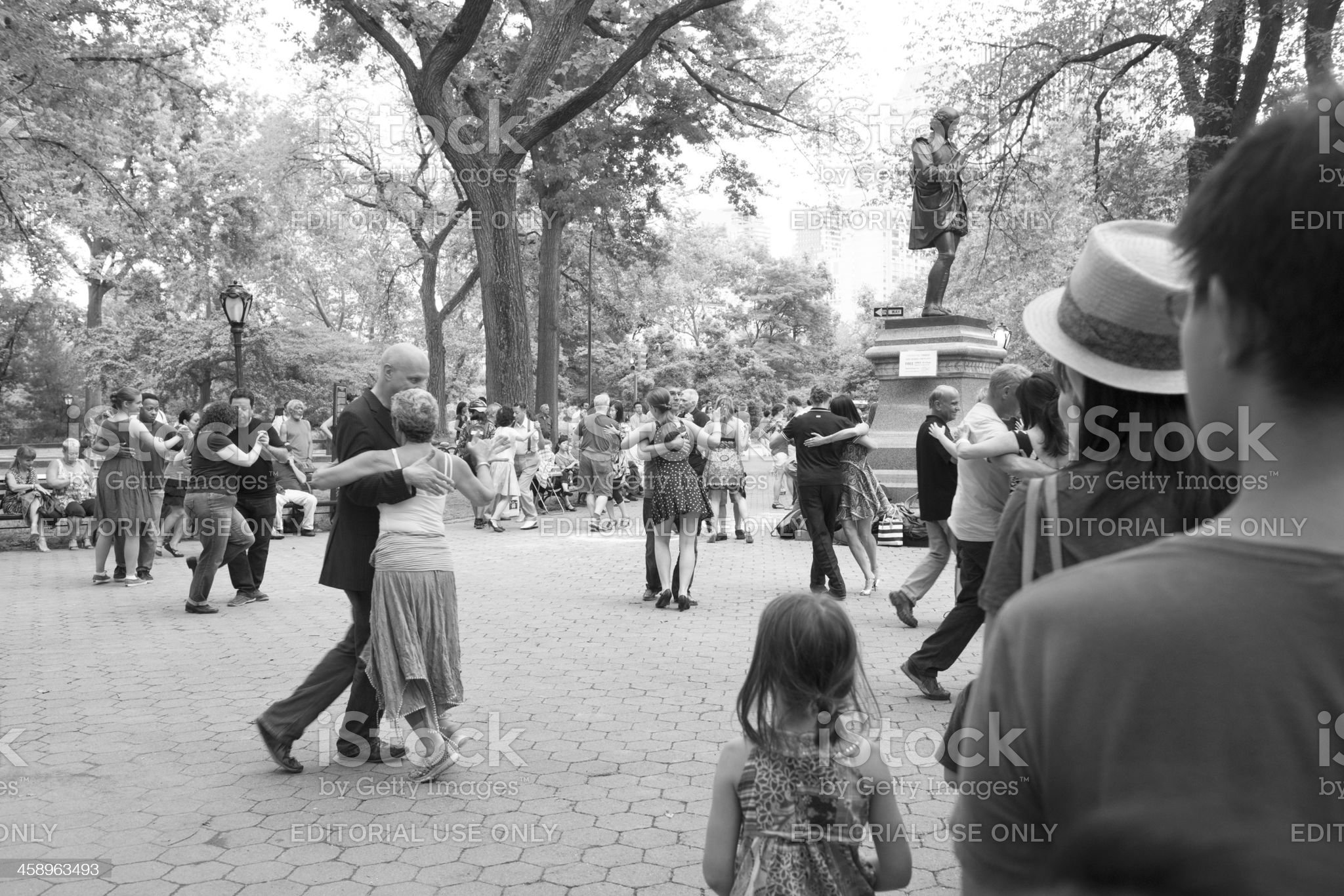 New York City People Dancing the Tango in Central Park royalty-free stock photo