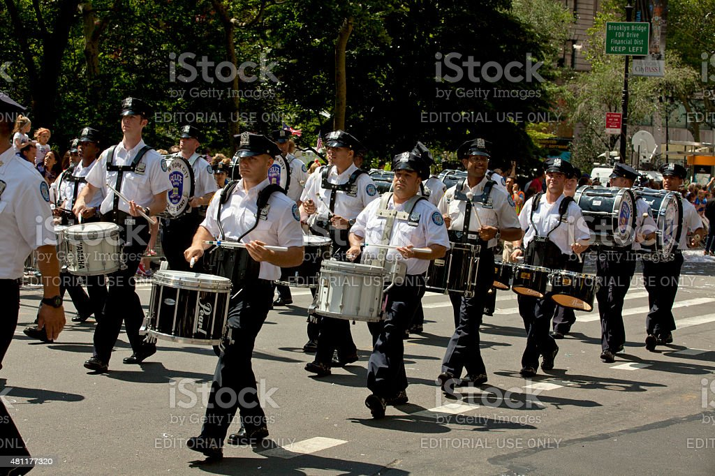 New York City Police Department Marching Band stock photo
