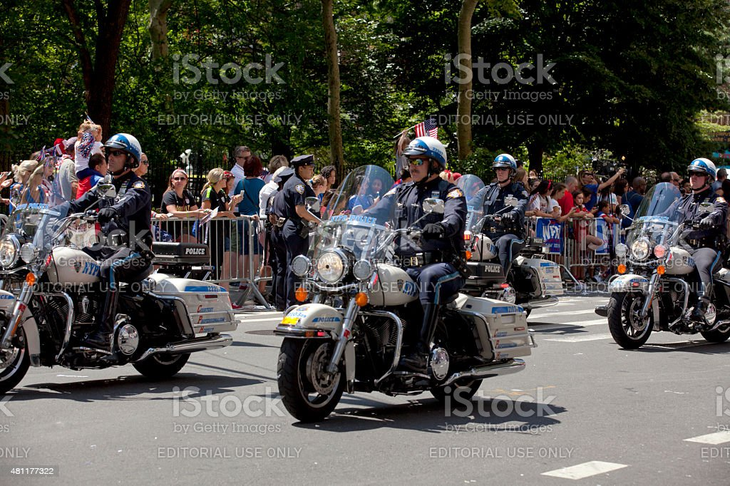 New York City Police Department Motorcycle Squad stock photo