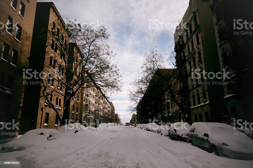 New York City, post-blizzard stock photo
