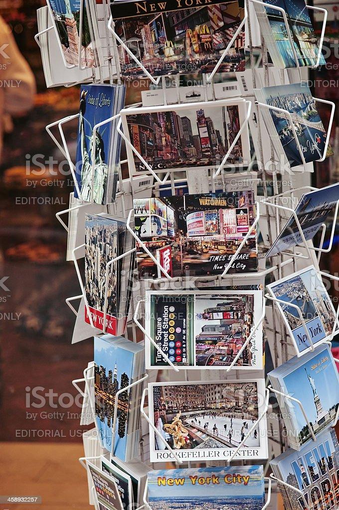 New York City postcards on a rack royalty-free stock photo