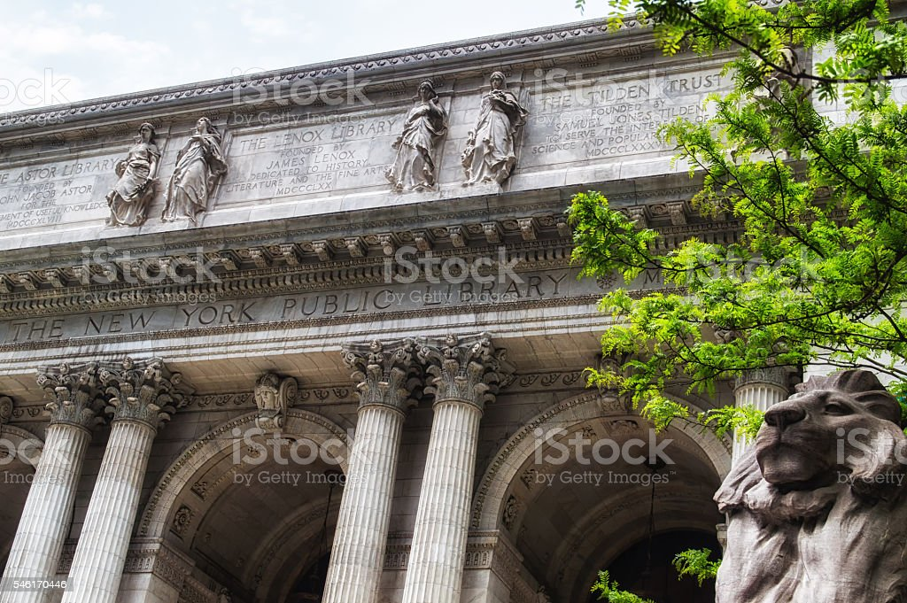 New York City Public Library stock photo