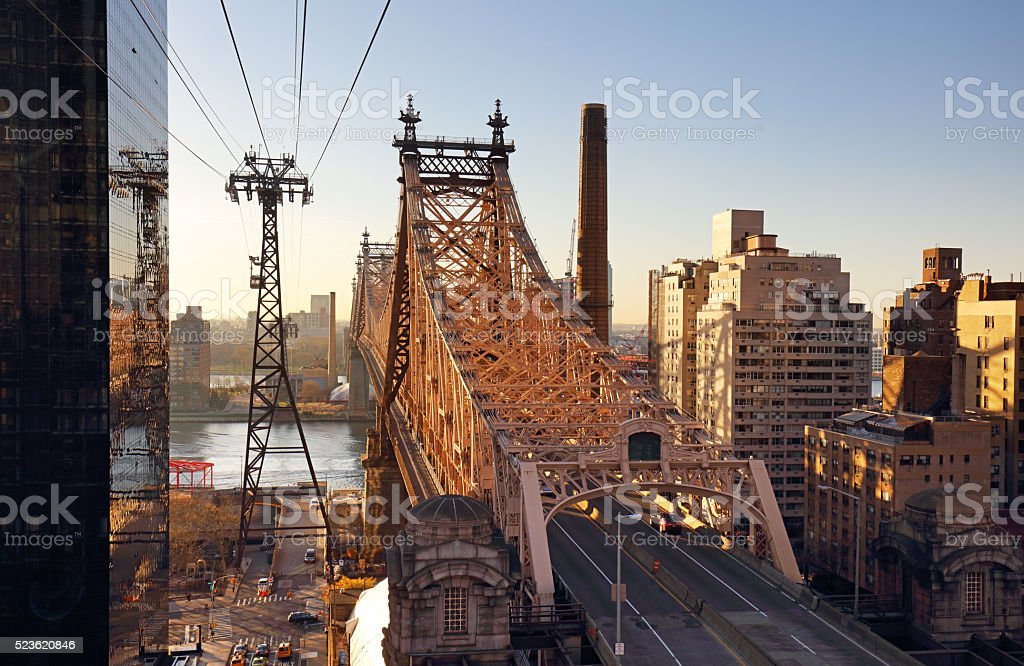 New York City, Queensboro Bridge, USA stock photo