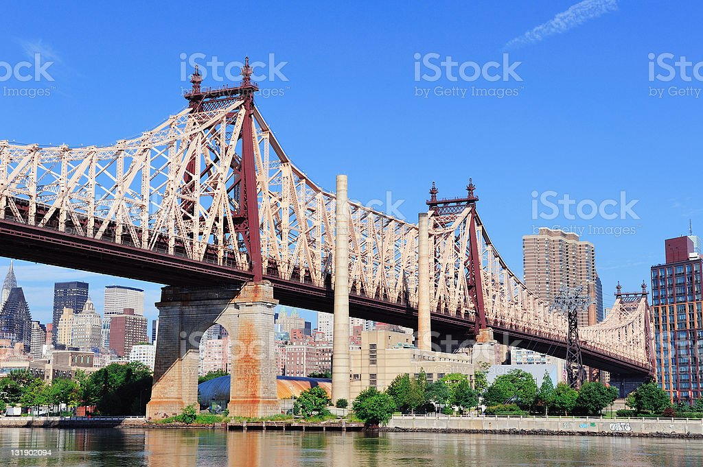 New York City Queensborough Bridge royalty-free stock photo