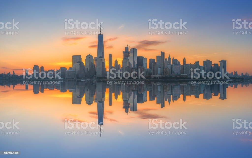 New York City reflections stock photo