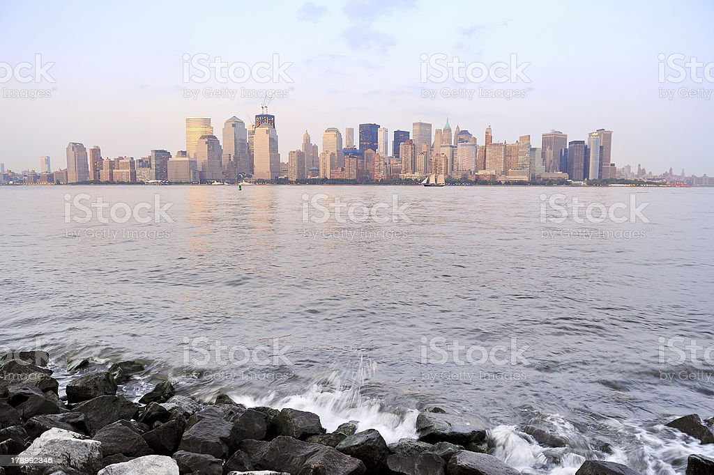 New York City river shore royalty-free stock photo