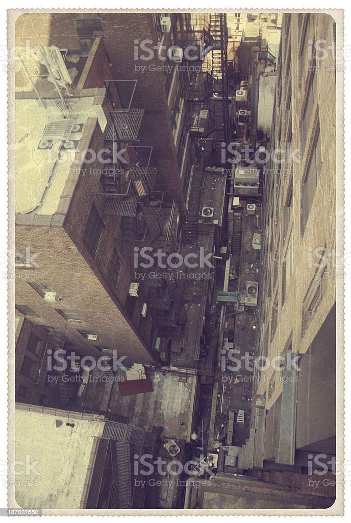 New York City Rooftops - Vintage Postcard stock photo