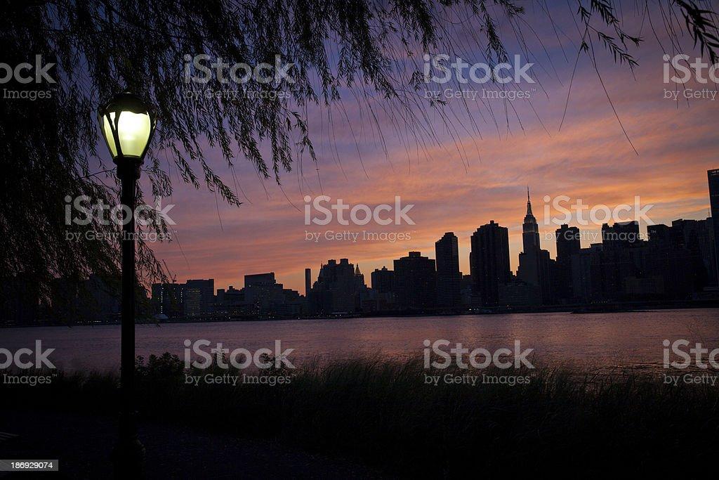 New York City Silhouette royalty-free stock photo