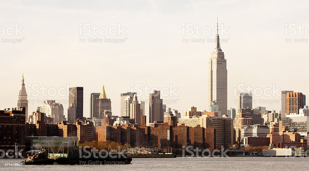 New York City Skyline as seen from Brooklyn royalty-free stock photo