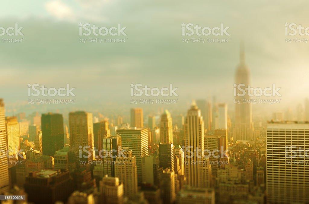 New York City Skyline at Dawn royalty-free stock photo