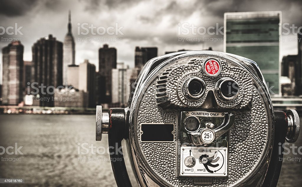 New York City skyline from long island stock photo