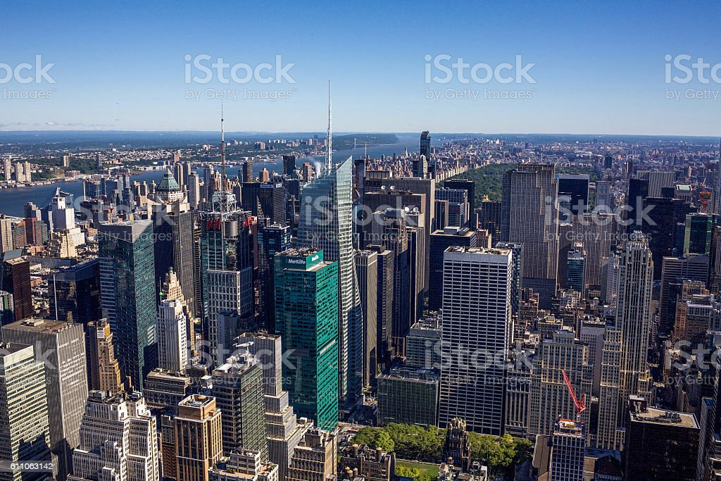 New York City Skyline From the Empire State stock photo