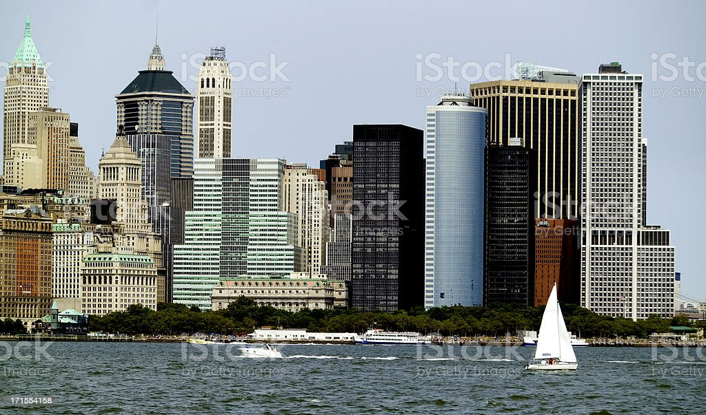 New York City skyline in summer royalty-free stock photo