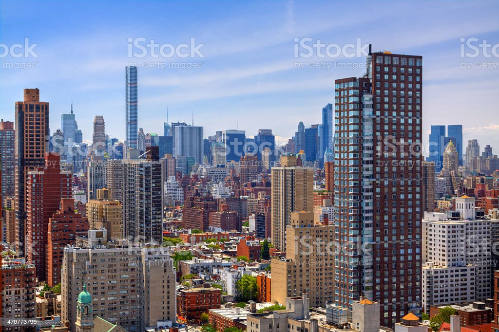 Residential Buildings at Manhattan Upper East Side, New York City. stock photo