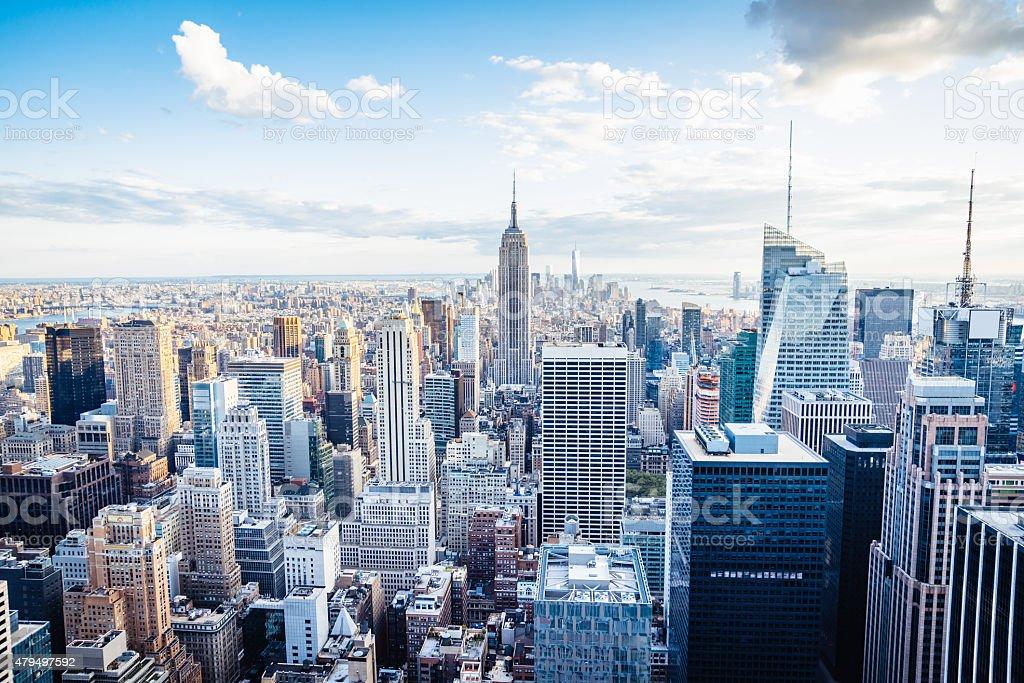 edificios de la ciudad de nueva yorkmidtown y el edificio empire state foto