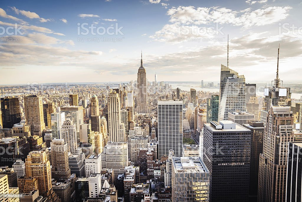 New York City Skyline - Midtown and Empire State Building royalty-free stock photo