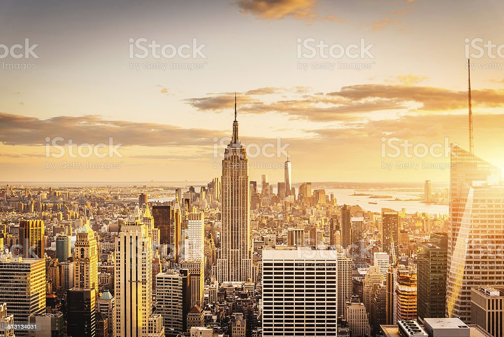 New York City Skyline - Midtown and Empire State Building stock photo