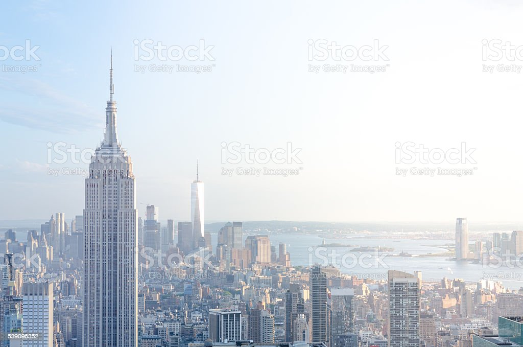 New York City Skyline Midtown and Empire State Building stock photo