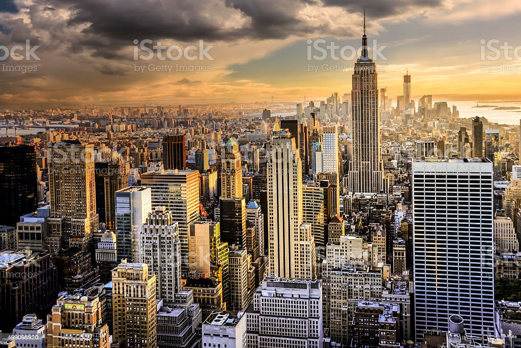 New York City Skyline - Midtown and Empire State stock photo