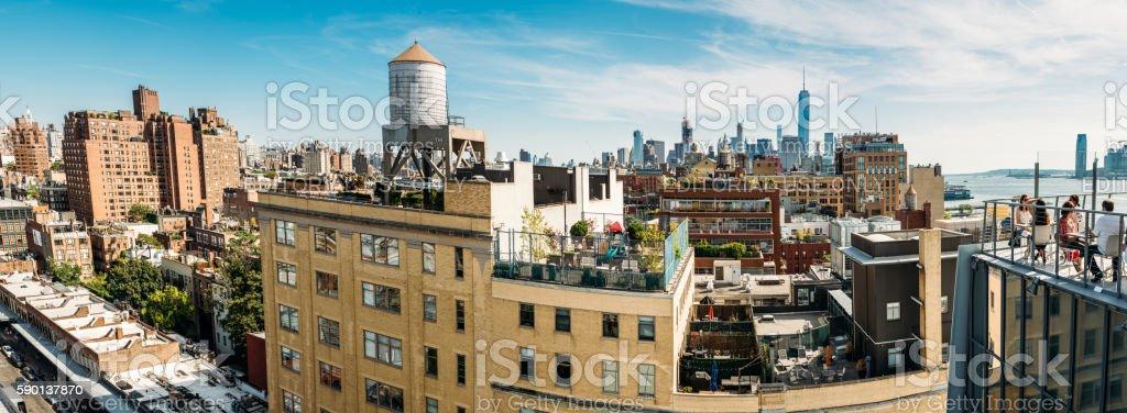 New York City Skyline Panorama stock photo